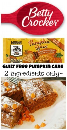 low fat pumpkin cake
