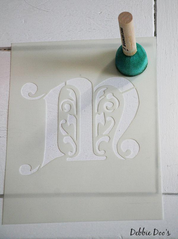 monogrammed stencil