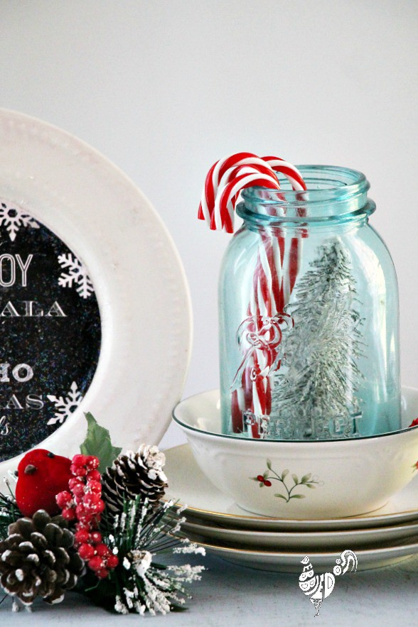 Christmas decorating ideas with Mason jars