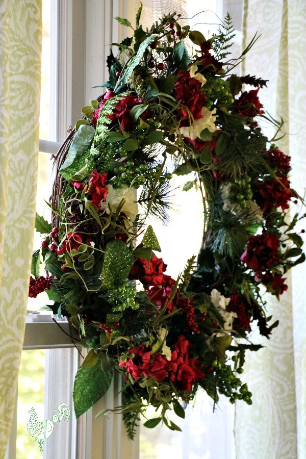 Festive Holiday Christmas wreath