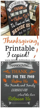 Thanksgiving printable I found inspiration at HomeGoods!