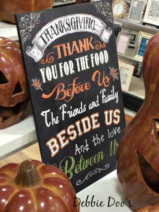 Thanksgiving sign at HomeGoods