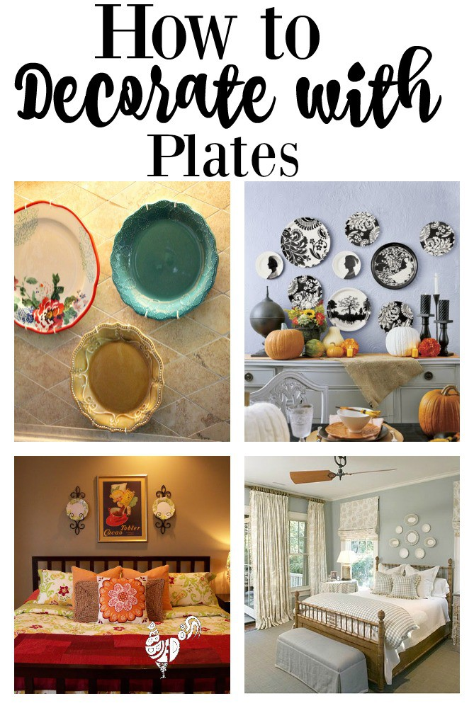decorating with plates and how to