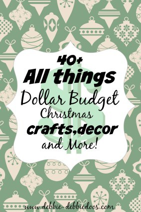 All thing Dollar budet Christmas crafts, decor and more ideas!