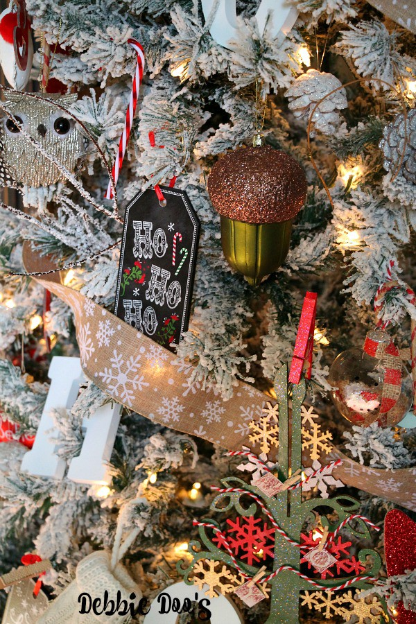 Chalkboard christmas ornaments from Michaels