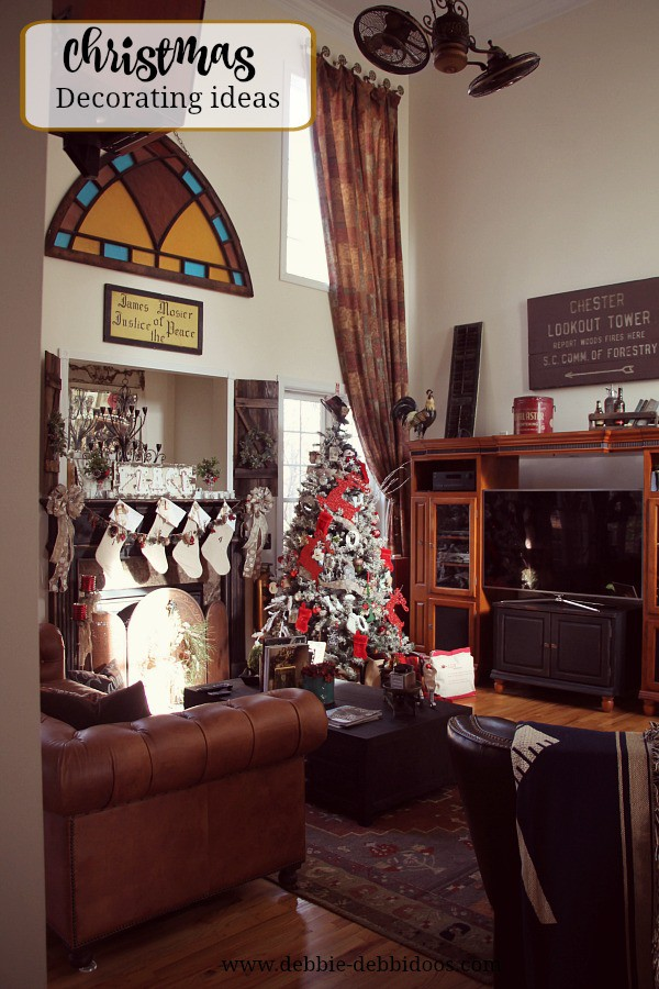 Christmas in the family room decorating ideas