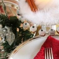 Dollar tree Christmas centerpiece idea