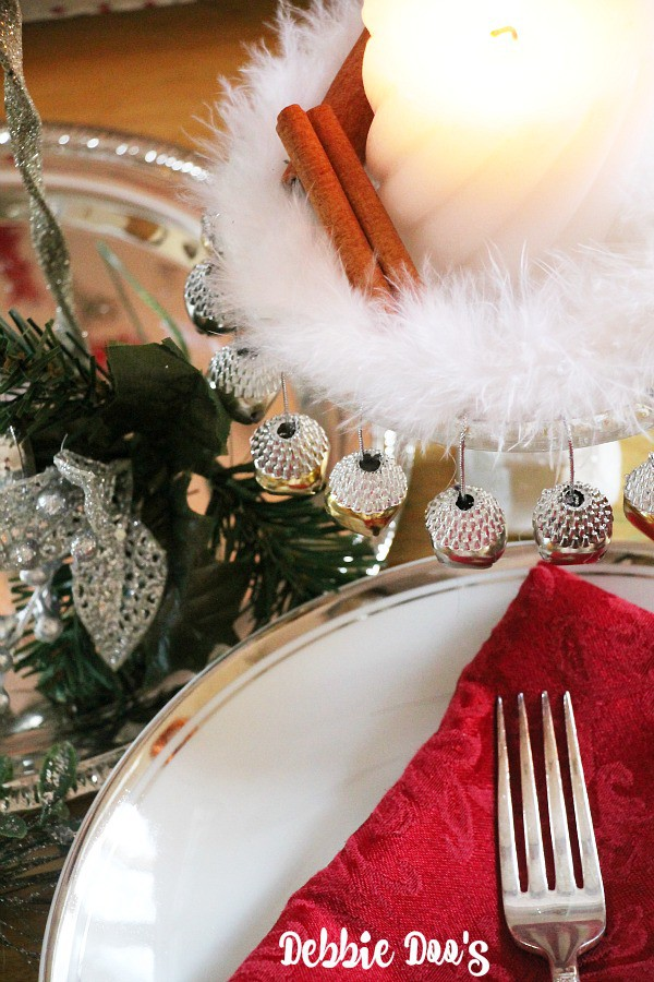 Dollar tree Christmas table centerpiece idea 005