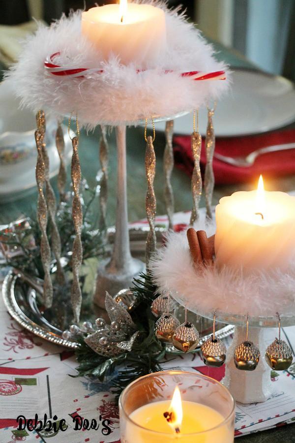 Dollar tree Christmas table centerpiece idea