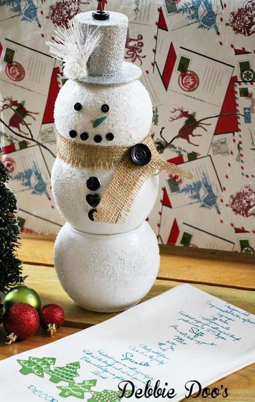 Dollar tree snowman craft