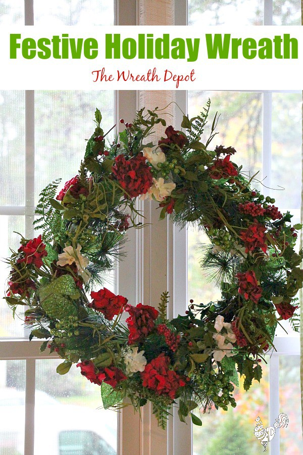 Festive Holiday wreath from The Wreath Depot