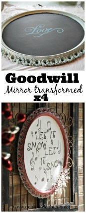 Goodwill mirror makeover