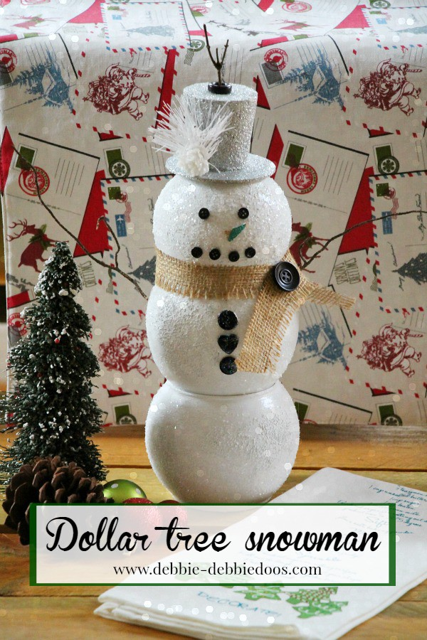 How to make a snowman vase from the dollar tree