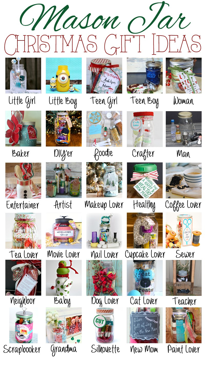 Mason jar themed Christmas gift ideas - Debbiedoos
