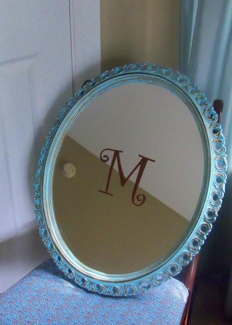 Monogrammed mirror