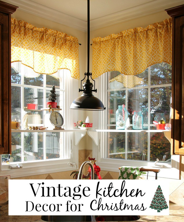 Vintage kitchen decor for Christmas