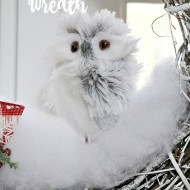 Winter Owl diy wreath