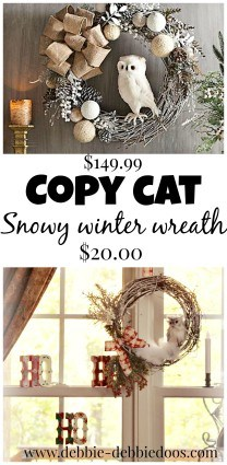 copy cat winter owl wreath