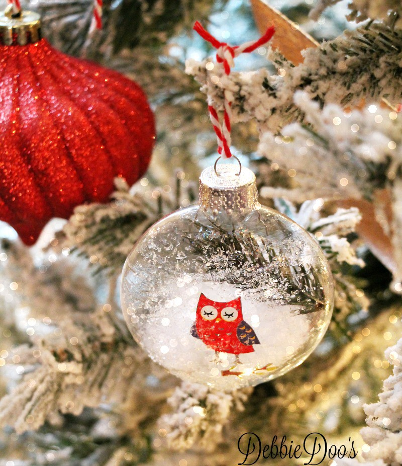 diy glass ornament with diamond dust