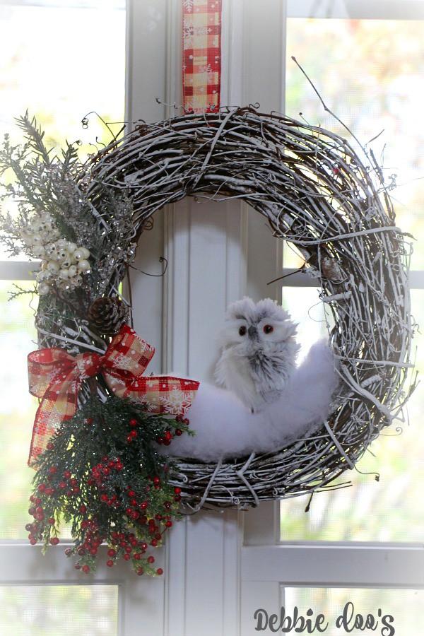 Winter Owl Diy Wreath Debbiedoos