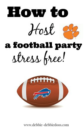 how to host a football party without any stress