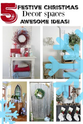 5 festive Christmas eclectic style Christmas spaces