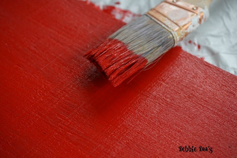 Americana decor chalk paint in red