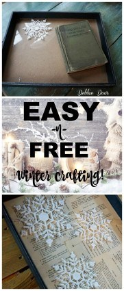 Easy and free winter crafting ideas
