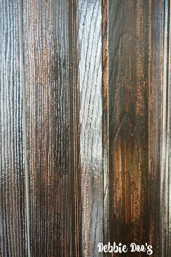 Fake wood grain look with gel stain and stain by minwax