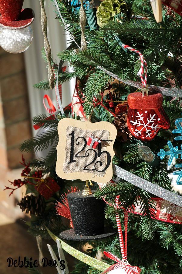Handmade burlap ornaments