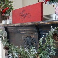 Transitioning the mantel to Winter