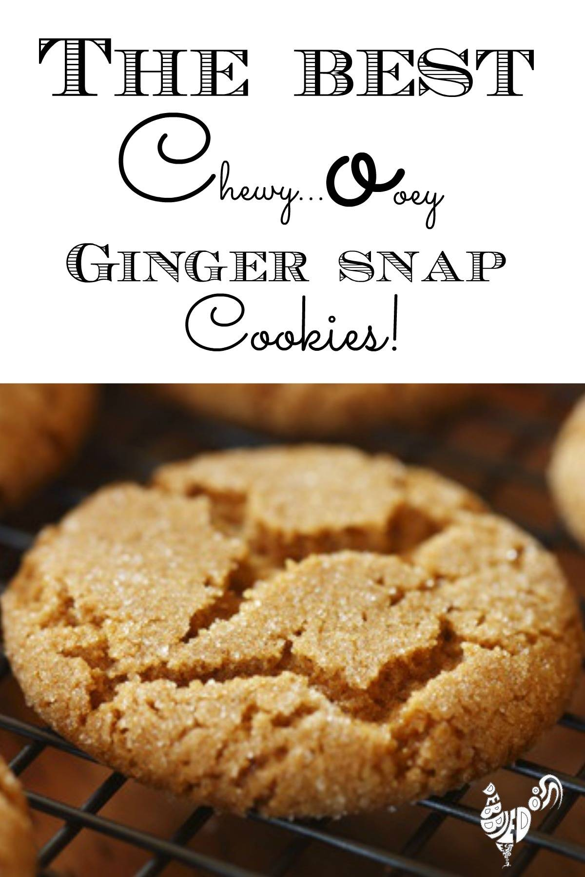 Famous chewy ginger snap cookie recipe