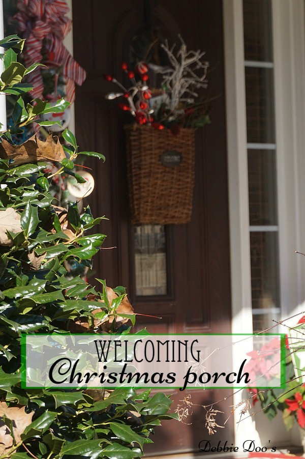 Welcoming Christmas porch