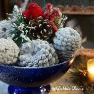 Winter snowy pine cone craft