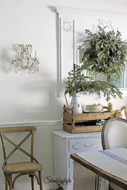 Rustic french country Christmas decorating ideas