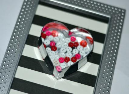 Buttons in cookie cutter art