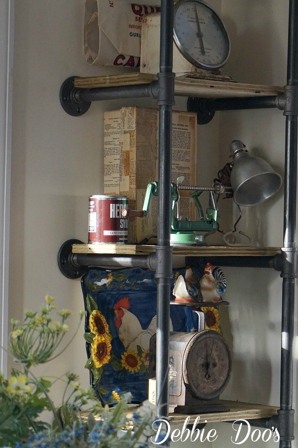 Diy industrial shelf with pipes
