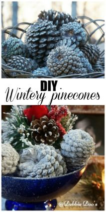 How to have wintery pinecones and bake the critters out