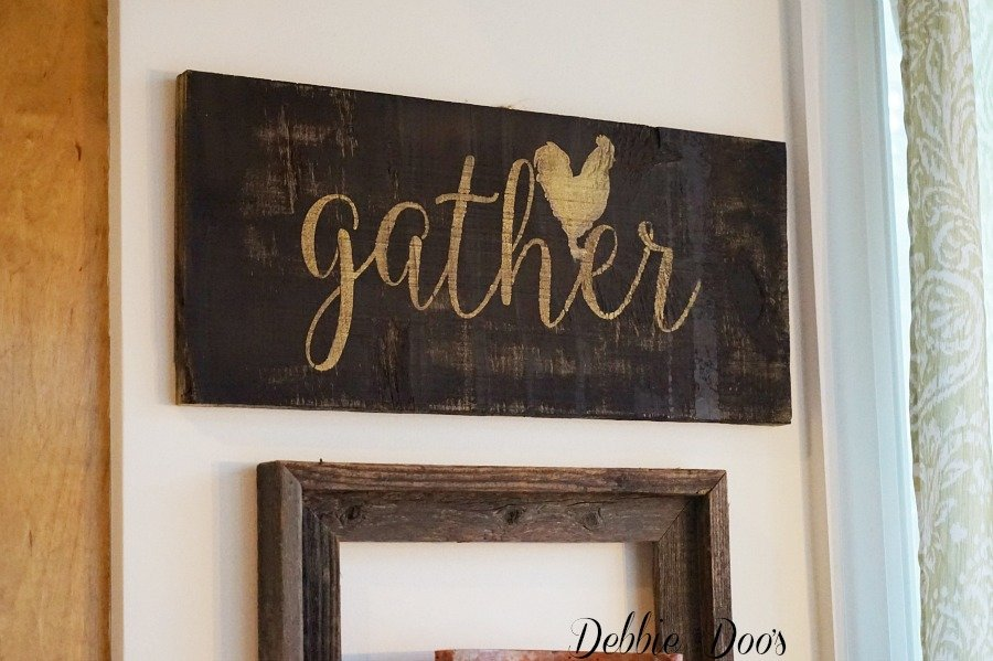 How to make a rustic kitchen sign from scrap wood