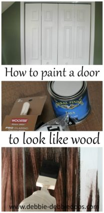 How to paint a plain white door to look like rustic wood