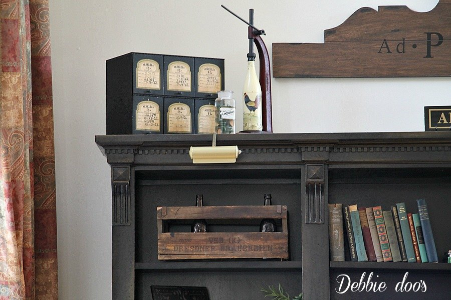 Old brass lighting for the entertainment center and other vintage finds