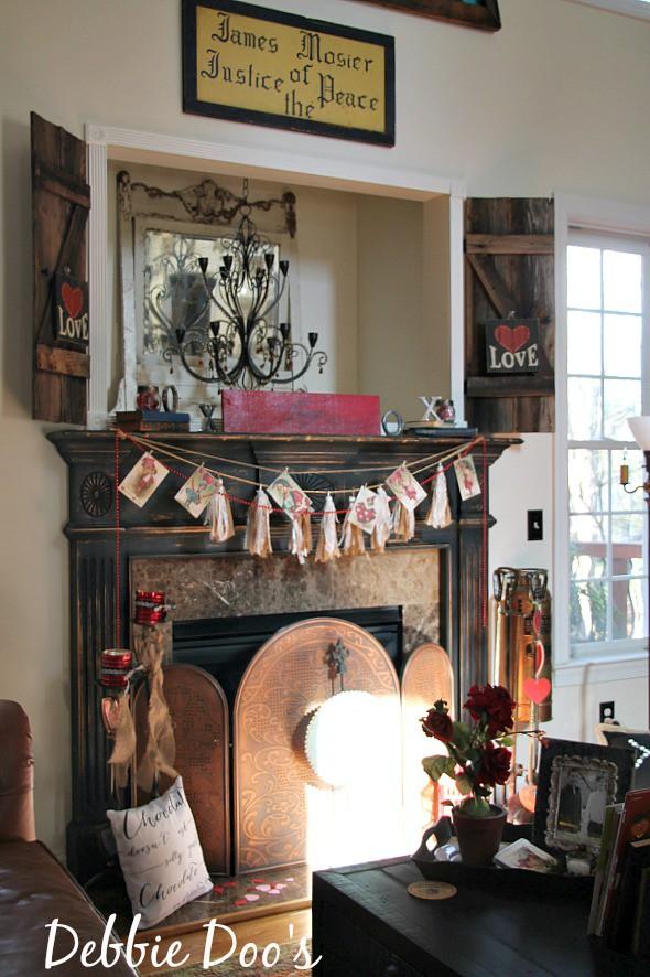 Rustic Valentine decorating ideas
