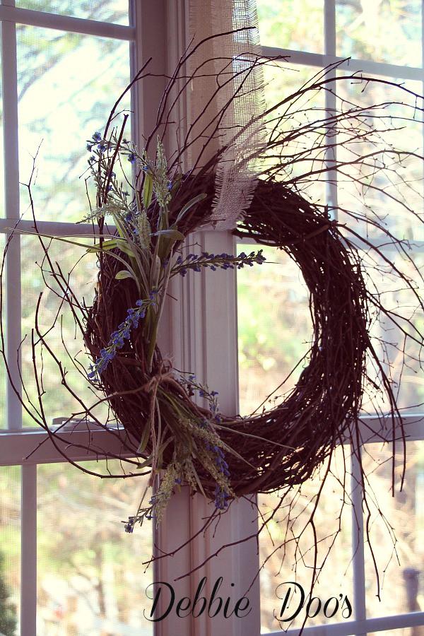 Rustic winter wreath