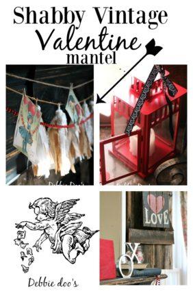 Shabby Vintage Valentine mantel