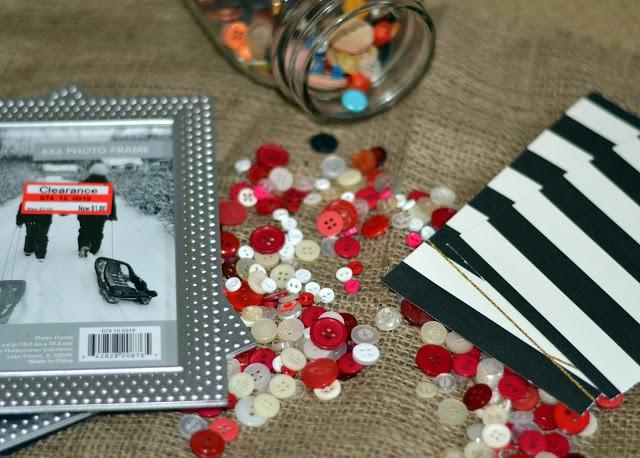 Supplies needed for Valentine button art