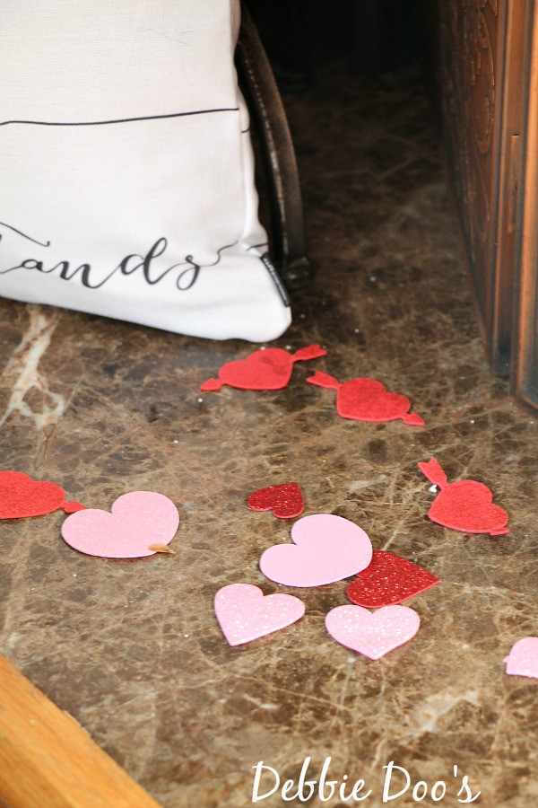 Valentine petals from the Dollar tree