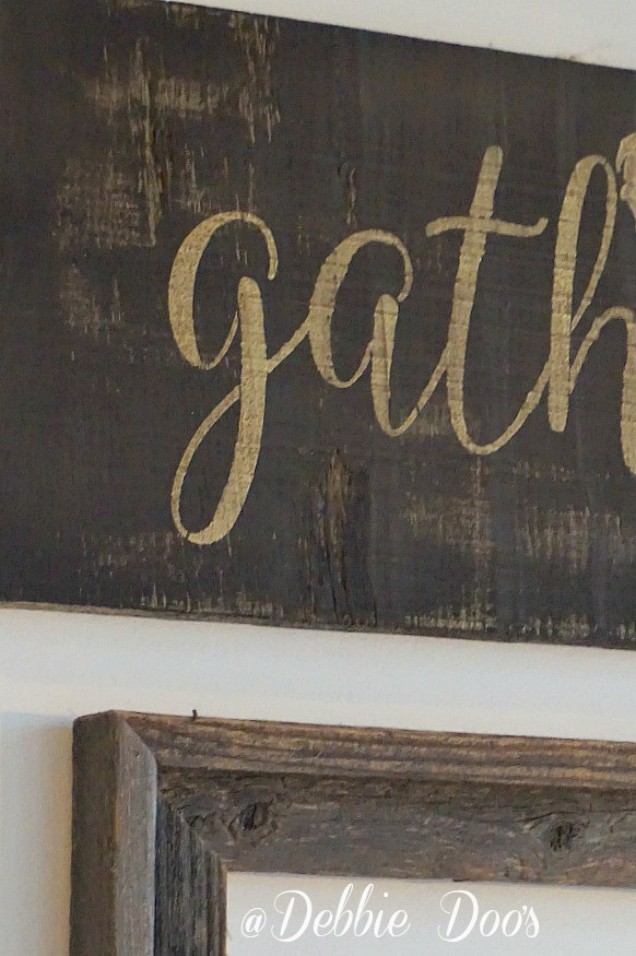 gather rustic sign diy from scrap wood
