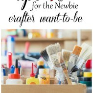 Want to be a little more crafty, but don't know where to start? I share 5+ simple tips and tricks to get you started. No prior skills required.