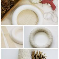 How to make a pine cone winter wreath for a buck or two
