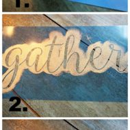 How to make your own rustic kitchen sign